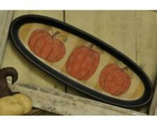 COUNTRY PRIMITIVE PUMPKIN OVAL TRAY/PLATE
