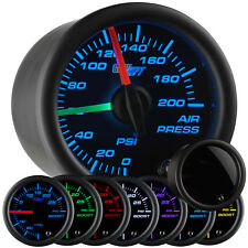 52mm GlowShift Tinted 7 Color Dual Needle Air Pressure Gauge - GS-T713-DN