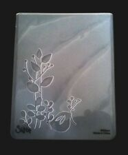 Sizzix Large 4.5x5.75in Embossing Folder BIRD LEAVES BIRDS FEATHER fi Cuttlebug
