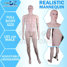 1 x New Male Full Body Size Mannequin Shop Display Mannequin 185cm M2