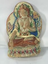 Very Old Antique Tibetan Clay Tsa Tsa Buddha Statue Padmasambhava ? 4""