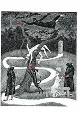 """EDWARD GOREY """"RED LETTERS"""" LARGE 10""""x15"""" Wall Art Poster Book Page"""