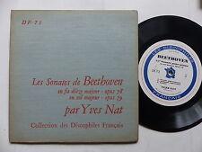 sonates de BEETHOVEN OP 78 OP 79 YNES NAT Collection discophiles francais DF 73