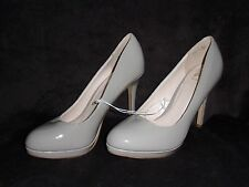 Ladies Atmosphere High Heel Shoes. Size 6 / 39. Taupe. Wide Fit. Brand New.