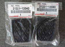 2x OEM Toyota Brake & Clutch Pedal Pad Cover Corolla Camry MR2 4Runner Lexus
