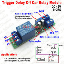 DC12V Signal Trigger Delay Turn Off Adjustable Timer Control Switch Relay Module