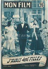Mon film n°475 - 1955 - Maurice Chevalier J'avais 7 filles - Ann Sheridan