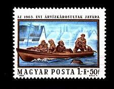 HUNGARY - UNGHERIA - 1965 - Aiuti alluvionati del Danubio: barca di salvataggio