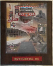 1966-2006 Busch Stadium Final Season Plaque Framed Photo St. Louis Cardinals