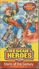 Fisher Price VHS Rescue Heroes Storm of the Century Parts 1& 2 Very Good