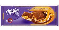 Tablette de 300 gr Milka caramel et noisettes entières, livré neuf emballé.