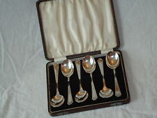 Vintage Silver Plated Spoons Boxed Fruit Dessert - Made in Sheffield England