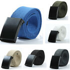 Fashion Unisex Plain Webbing Mens Boys Waist Belt Waistband Casual Canvas Belt