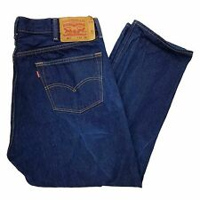 Levi's Men's 501 Button Fly Dark Wash Jeans - Tag 42x30 Measures 38x27.5 HEMMED