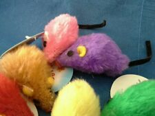 Zanies Plush Mice Cat Toy. Come in 6 Bright, Beautiful Colors.  Lot of 3.