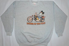 Leader Of The Pack MICKEY MOUSE MotorCycle Gray Sweater Sweat Shirt Sz Large