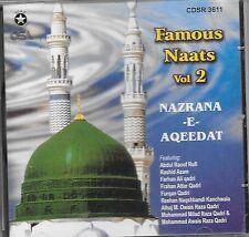 NAZRANA-E-AQEEDAT (FAMOUS NAATS) VOL. 2 - NEW NAAT CD