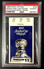 WAYNE GRETZKY SIGNED 1988 STANLEY CUP FINAL GAME 5 OILERS TICKET STUB MVP PSA