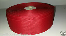 "1 metre 50mm (2"")wide RED SOLID GROSGRAIN RIBBON HAIR BOWS MILLINERY TRIM"