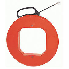 New O305FAH Fiber Glass Fish Tape Reel Puller 15m(50ft) Tool Electrical Cable