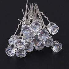 20Pcs Chic Charm Sweet Bride Pearl Rhinestone Hair Twists The Bride Hair Plate