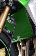 R&G GREEN RADIATOR GUARD for KAWASAKI ER-6F FAIRED, 2009 to 2016