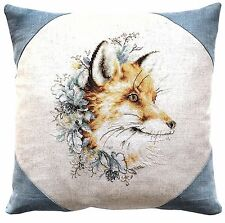 "Fox Cushion Cross Stitch Kit By Luca-S 16 3/4 x 16 3/4"" On 25 Count Evenweave"