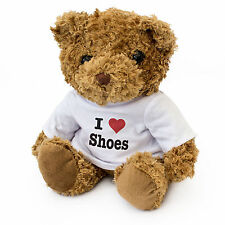 NEW - I LOVE SHOES - Teddy Bear Cute Cuddly - Gift Present Birthday Valentine