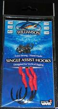 Williamson Lures Single Assist Hooks SAH-XLS 9/0 VMC Hook 200lb Short - 3 pack