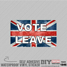 Eu Gb Flag Vote Leave Europe Self Adhesive Vinyl Sticker Decal Window Car Van Bi