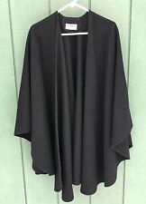 Peter James Wool and Cashmere Black Cape Shawl Made in Great Britain