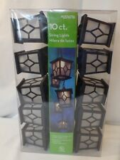 10 Count Lantern String Patio Light Indoor Outdoor Electric Plug In Style 8' Ft