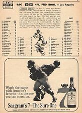 1965 TV AD~NFL PRO BOWL~FRAN TARKENTON & TERRY BARR CO MVP'S~ FOOTBALL ALL STARS