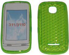 For Nokia Asha 311 / 3110 Pattern Soft Gel Case Cover Protector Pouch Green New