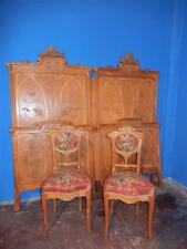 BEAUTIFUL ART NOUVEAU ITALIAN ANTIQUE BEDROOM SET BEDS AND CHAIRS - 15IT003 E