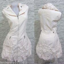 Lange Weste Kleid Tunika Longshirt Aprico/Beige Gr 40 (R0260N) GLAMZ FRANSTYLE