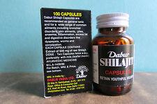 1 Bottle / 100 Capsules Dabur Shilajit 500mg Raw Shilajit Per Capsule - Stamina