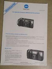 MINOLTA : CATALOGUE : AF-E II et FS-E II 09/1987
