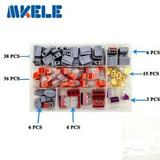 110PCS Wire Connector for 3 Room Mixed 7 Models Mini Terminal Block wago In Box