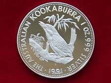Australia. 1991 1oz - Silver Kookaburra.. Proof  - In Perth Mint Wallet