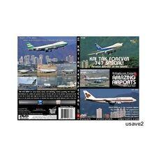 Hong Kong Kai Tak 747 Special Airport  Aircraft DVD Video-New Sealed