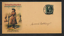Annie Oakley Sharp Shooter Autograph Reprint On Orig. Period 1880s 3X6 *095