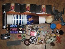 star wars collectible lot figures, cups, accessories, light saber, cards, VHS