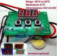TERMOSTATO DIGITALE ELETTRONICO 24V AC/DC NTC 10K 3950 -50℃ 110℃ MCU STM8S LED