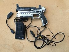 PS1 Playstation 1 Grey Pal Logic 3 PREDATOR 2 GUN with Reload Pedal & Sight