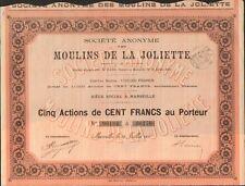 titre 5 actions: MOULINS de la JOLIETTE (MARSEILLE) (J)