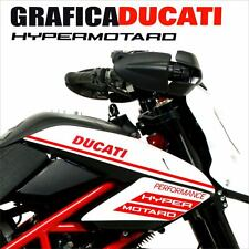KIT ADESIVI DECAL STICKERS DUCATI HYPERMOTARD 796 1100 EVO CARENA GRAFICA ROSSO