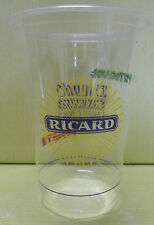 GOBELET RICARD  EN  PLASTIQUE TRANSPARENT, LES ALLONGES RICARD , 20 CL , VR330