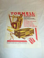 b alt Original Werbung Reklame Werbeplakat Plakat Poster TORNELL KLEISTER D.R.P.