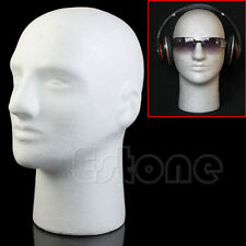 Manikin Styrofoam Mannequin Male Head Foam Model Wig Hat Glasses Display Stand
